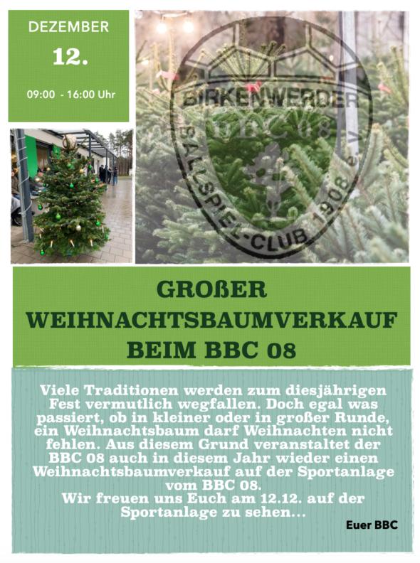 Weihnachtsbaumverkauf Berlin 2021